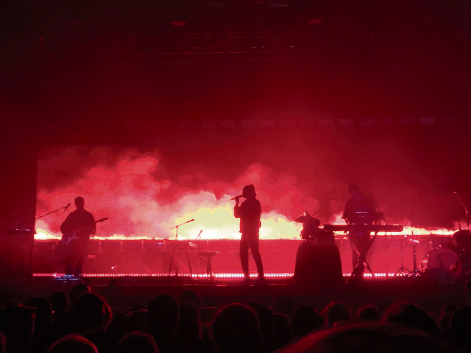 London Grammar onstage at the Fremantle Arts Centre. Picture: David Johns.