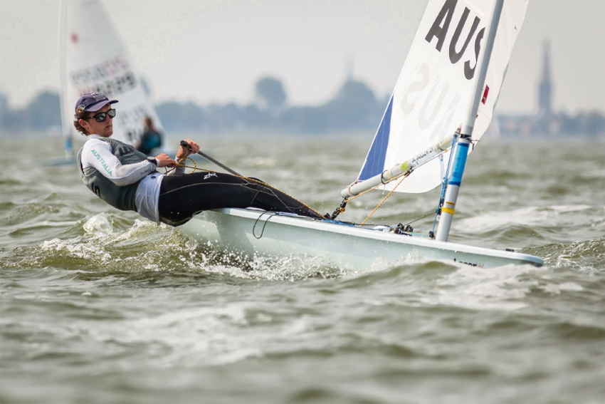 A good run: Sailor Zac Littlewood. Picture: Sailing Today