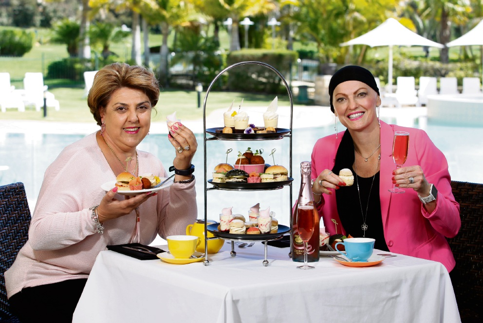 National Breast Cancer Ambassador Melina Dichiera and Dawn Gleeson are looking forward to Dawn's pink high tea event