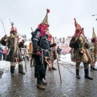 A Pagan seasonal ritual in Latvia. Stock image.
