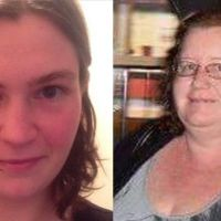 Jemma Victoria Lilley, left and Trudi Clare Lenon are on trial for the murder of Aaron Pajich.
