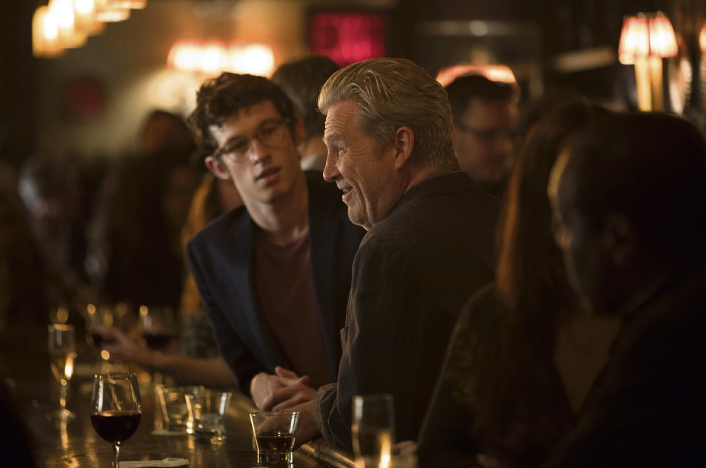 Callum Turner and Jeff Bridges in The Only Living Boy in New York.