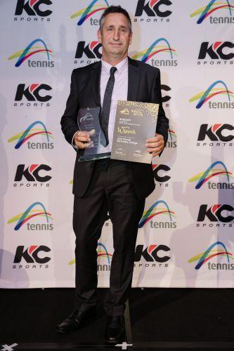 John Forrest Secondary College tennis co-ordinator John Campbell.