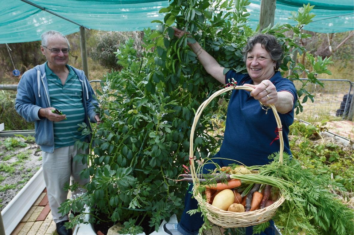 Rockingham and Districts Garden Club members Tony Lloyd and Dee Smith. Picture: Jon Hewson www.communitypix.com.au d474903