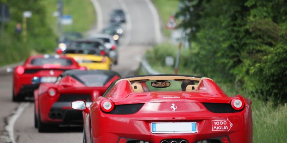 A Ferrari heading for the modern version of the famed Mille Miglia, which will be commemorated in Perth on November 5.