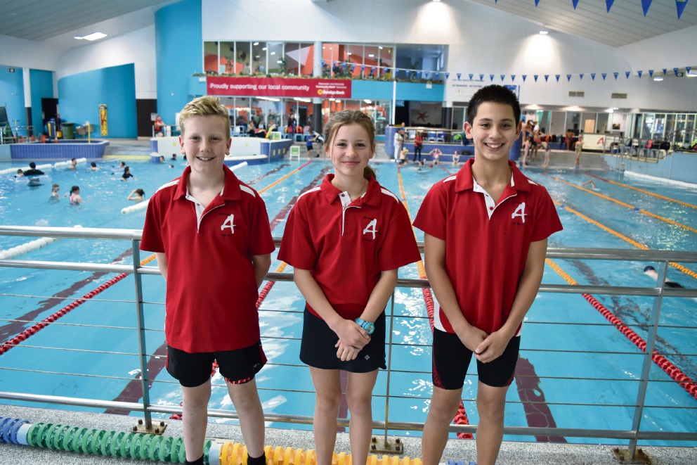 Joel Croxford (10), Emily Barwick (11) and Harrison Farmer (12).