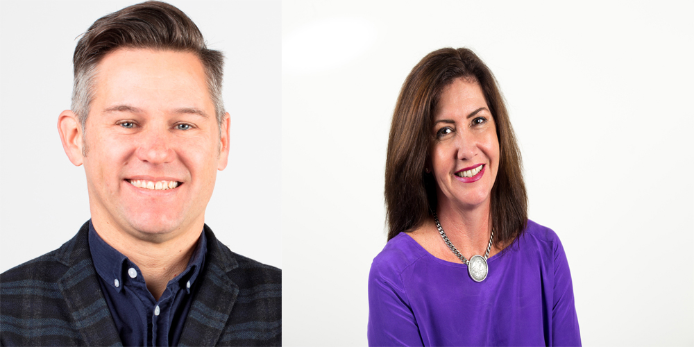 Fremantle mayoral candidates Brad Pettitt and Ra Stewart.