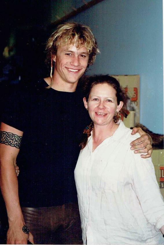 Heath Ledger and Jean Turnbull Marashlian. Copyright Jean Turnbull Marashlian.
