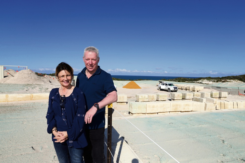 Lindsay and Karina Hicks from Ballajura are moving to Capricorn Beach Estate in Yanchep. Picture: Martin Kennealey d474342