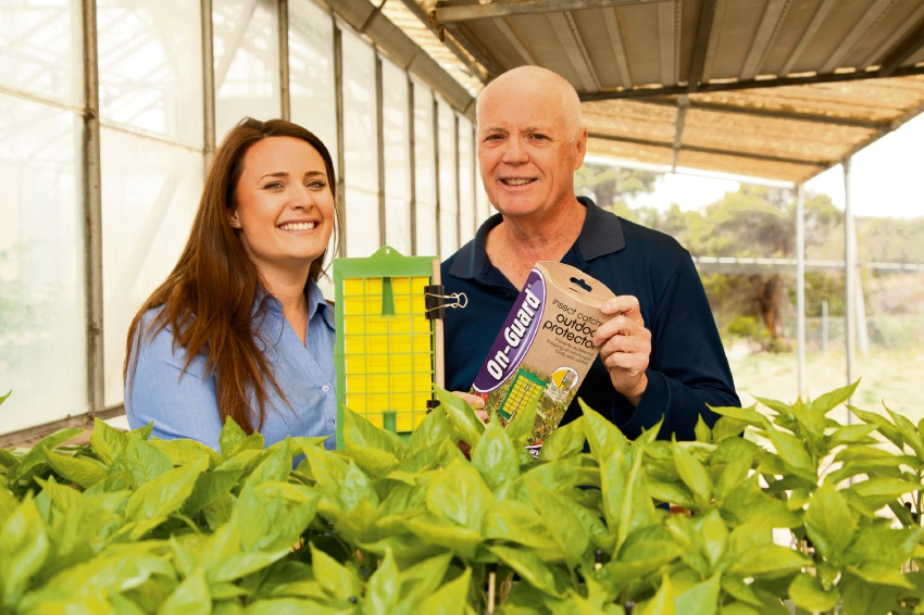 Department of Primary Industries and Regional Development officers Kate Newman and Darryl Hardie with traps.