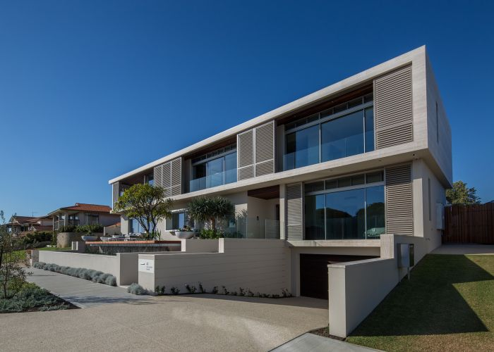 The winning home on Challenger Parade, City Beach, showcases artisan craftsmanship and contemporary materials.