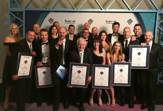 Summit Homes Group employees at the 2017 HIA Truecore Steel Perth Housing Awards.