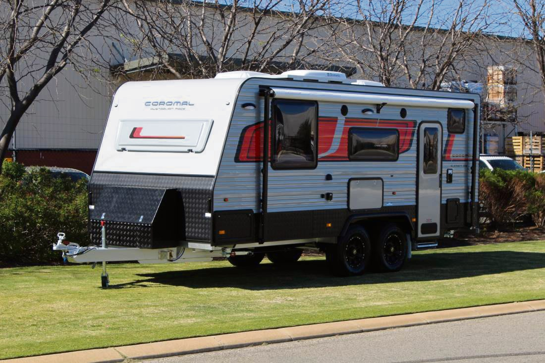 Caravans on display at the 2017 Perth 4WD and Adventure Show this weekend