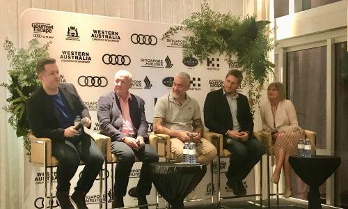Chefs Ashley Palmer-Watts, Rick Stein, Alex Atala, Curtis Stone and wine critic Jancis Robinson.