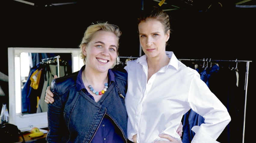 Nel Minchin and Rachel Griffiths.