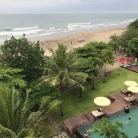 View from Moonlite Kitchen and Bar in Seminyak, Bali. Picture: Tyler Brown