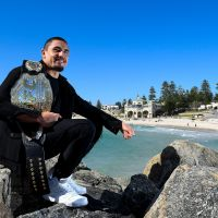 PERTH, AUSTRALIA - OCTOBER 31:  Robert Whittaker poses for a photo at Cottesloe Beach after a UFC 221 media opportunity on October 31, 2017 in Perth, Australia.  (Photo by Daniel Carson/Getty Images)