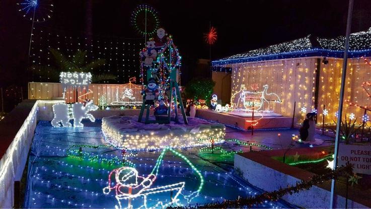 Chad Godley's Christmas lights display at 6 Heron Close, Ballajura.