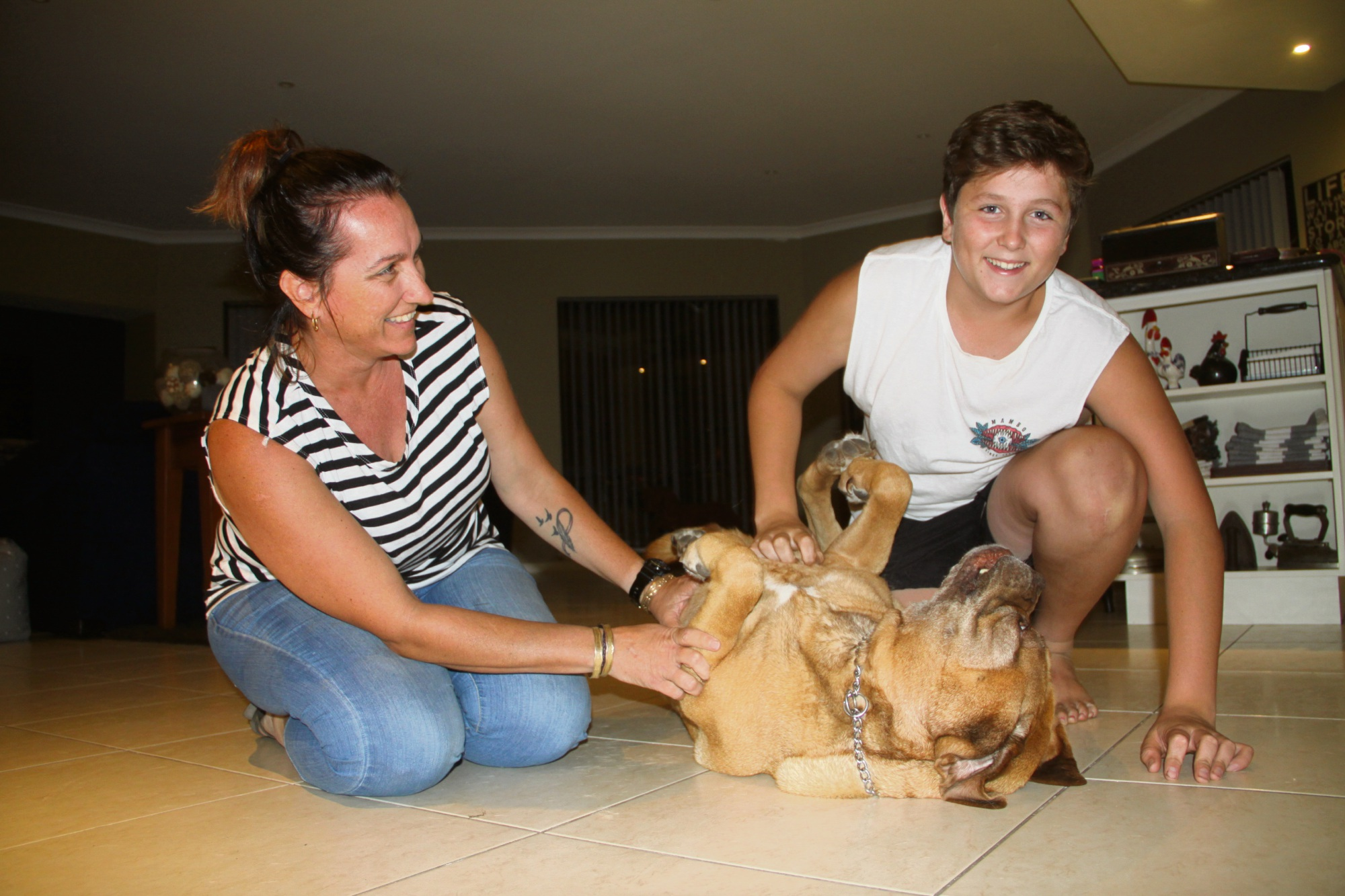 Jennifer and Hugh McKay reunited with Molly. Picture: Gabrielle Jeffery