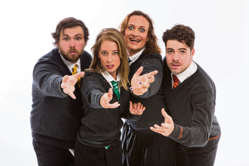 The cast of Completely Improvised Potter.