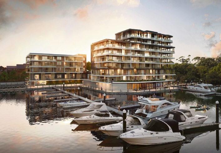 An artist's impression of the Marina East development.