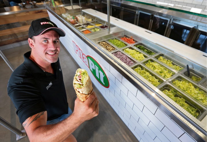 Paul Kennerley, co-owner of Pita Pit in Malaga. Picture: David Baylis www.communitypix.com.au d479422