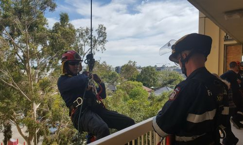 Department of Fire and Emergency Services held part of its vertical rescue course in Highgate this week.