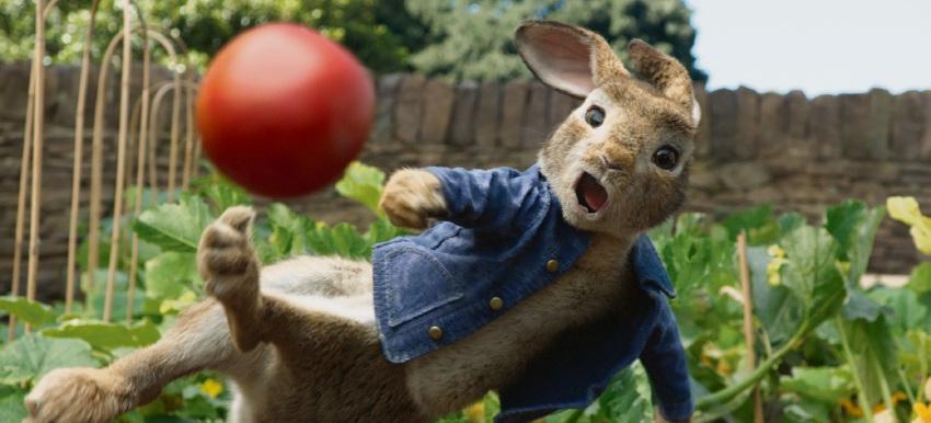 Peter Rabbit voiced by James Corden.