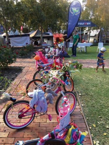 People can enter the decorated bike competition.
