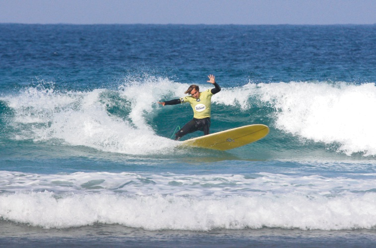 Jack Medland claimed two wins at the WA Longboard Titles in Denmark at the weekend. Picture: Surfing WA/Majeks