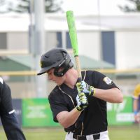 Mitch Field at the plate for WA.