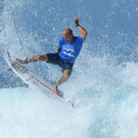 Kelly Slater competes in the 2017 Billabong Pipe Masters in Hawaii. Picture: Koji Hirano/Getty Images