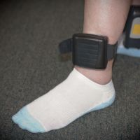 A house arrest ankle bracelet on an offender. Picture: iStock