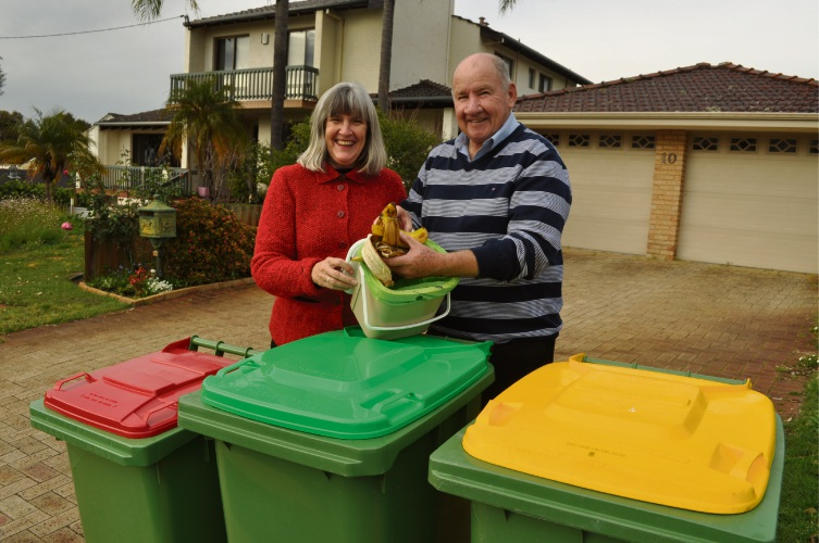 Bull Creek residents Jenny and Graham Lambert are taking part in the City of Melville's FOGO trial.