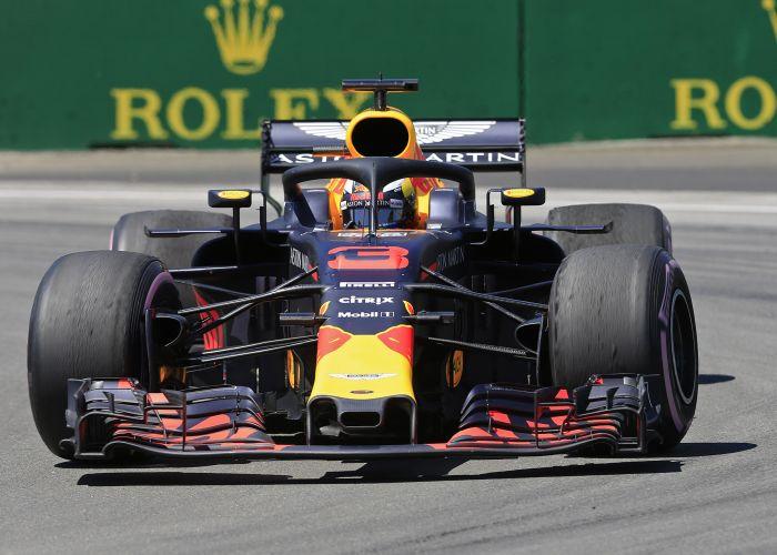Daniel Ricciardo on track at Montreal. Picture: Travis Barnes