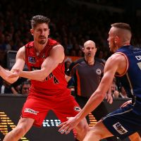 Greg Hire against Mitchell Creek of the Adelaide 36ers. Picture: Paul Kane/Getty Images
