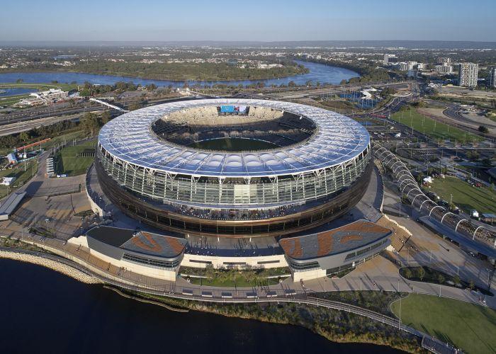 Optus Stadium won five awards at the WA Architecture Awards.