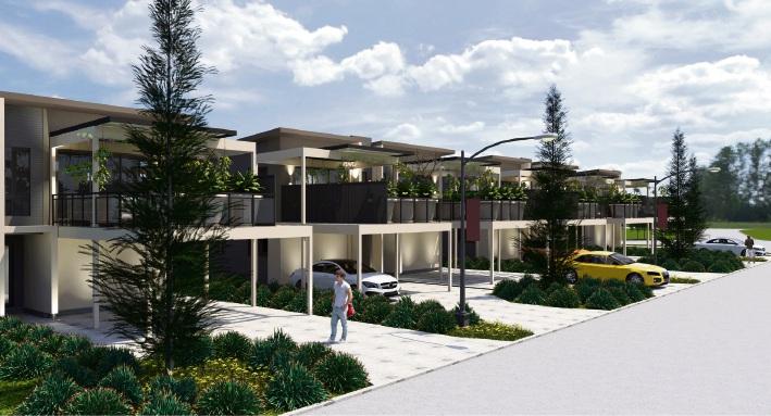 Artist's impression of the new Sky Garden homes in Vivente, Hammond Park.