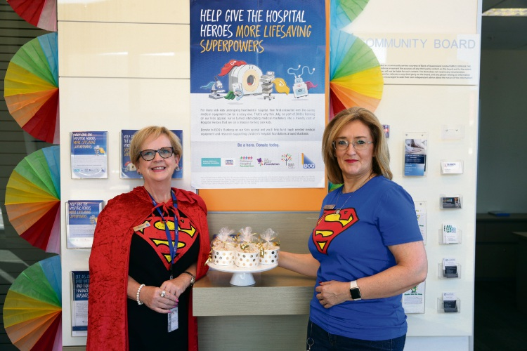 Customer service officer Eleanor Robertson and manager Glenda Sandoshan from Bank of Queensland in Clarkson. Picture: Martin Kennealey.