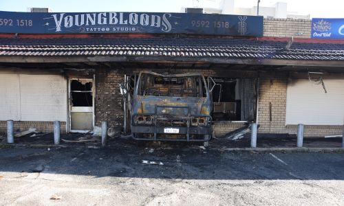 The facade of Youngbloods Tattoo Studio on Thursday morning.