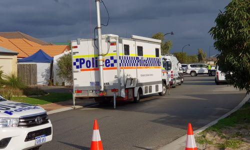 Ellenbrook triple homicide investigation  is on going. Credit: David Baylis