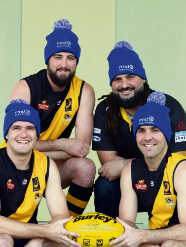 Canning South Perth Football Club players Joe Dunn, Aaron Carroll, Michel Jabbour and Troy Wilson.