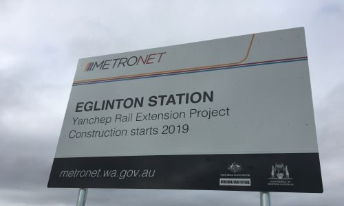Eglinton station Metronet Yanchep rail extension.
