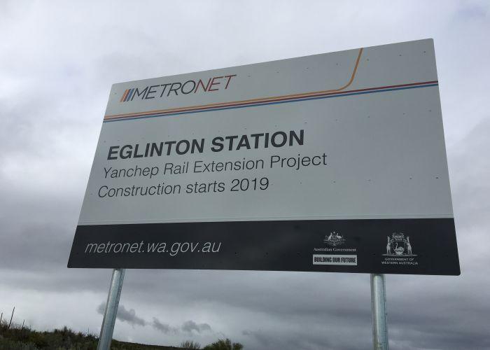 Eglinton station Metronet Yanchep rail extension.