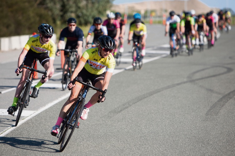 Erin Nolan, whose race was cut short by a puncture on the front of B grade. All photos: Nick Cowie