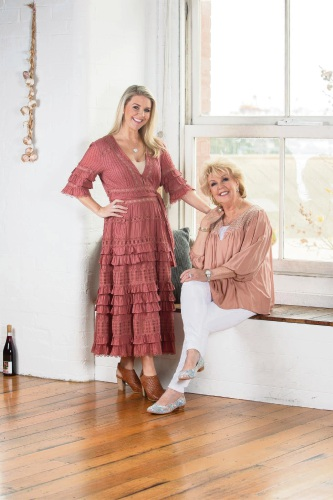Paul Carroll Shoes ambassadors Lauren and Patti Newton.