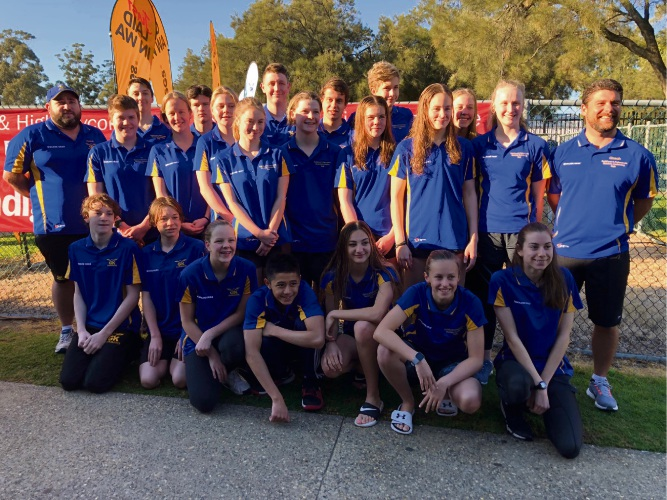 Guildford and Kalamunda Districts Swimming Club swimmers.