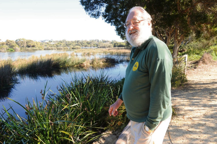 Cr Bruce Hayes says more trees on the edges of Lake Claremont may reduce the threat of botulism. Picture Jon Bassett.