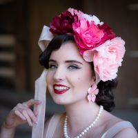 Holly Barker Millinery headpiece.