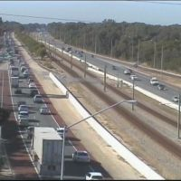 Traffic delays on the Mitchell Freeway near Ocean Reef Road. Picture: Main Roads